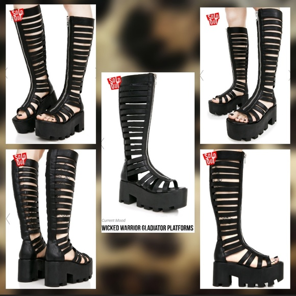 ca712dc558e 🔥SALE🔥 Wicked Warrior Gladiator Platform Sandals